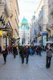 Weihnachtsdekoration bei Graben, Wien Österreich Lizenzfreie Stockfotografie