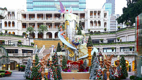 Weihnachtsdekoration bei Komplex 1881 in Hong Kong Stockbilder