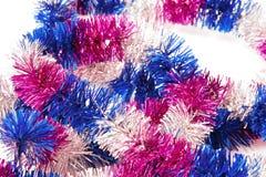 Weihnachtsdekoration, beleuchtetes Band Stockfoto