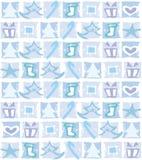 Weihnachtsdekoration, blau lizenzfreie abbildung