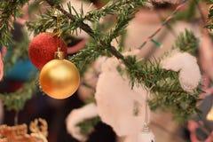 Weihnachtsdekoration in Delhi, Indien stockbild