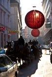 Weihnachtsdekoration in den Straßen von Wien Stockfoto