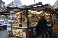 Weihnachtsdekoration in Flensbirg Stockbilder