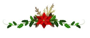 Weihnachtsdekoration getrennt stock abbildung