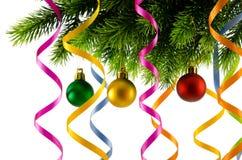 Weihnachtsdekoration getrennt Stockbild