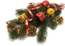 Weihnachtsdekoration getrennt Lizenzfreies Stockbild