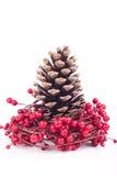 Weihnachtsdekoration getrennt auf Weiß lizenzfreies stockfoto