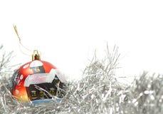 Weihnachtsdekoration getrennt. Copyspace Stockfotos