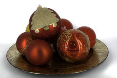 Weihnachtsdekoration glänzende glaubes Lizenzfreies Stockfoto