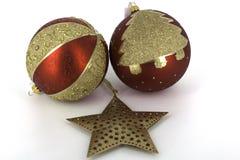 Weihnachtsdekoration glänzende glaubes Stockfotografie