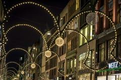 Weihnachtsdekoration, Hamburg, Deutschland lizenzfreies stockfoto
