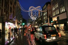Weihnachtsdekoration in London Stockfoto