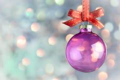 Weihnachtsdekoration - magischer bokeh Flitterhintergrund stockbilder