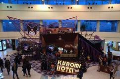 Weihnachtsdekoration 2015 in Metroplaza Kwai Fong, Hong Kong Lizenzfreies Stockfoto