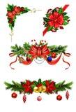 Weihnachtsdekoration mit Bogen stock abbildung