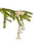 Weihnachtsdekoration mit den Glocken getrennt Lizenzfreies Stockfoto