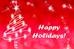 Weihnachtsdekoration mit frohe Feiertage Text Lizenzfreies Stockbild