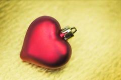 Weihnachtsdekoration mit Herzform Lizenzfreies Stockbild