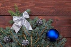 Weihnachtsdekoration mit Kopienraum Lizenzfreies Stockfoto