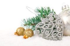 Weihnachtsdekoration mit Kopienraum Lizenzfreie Stockbilder