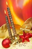 Weihnachtsdekoration mit Kugeln Lizenzfreie Stockbilder