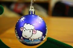 Weihnachtsdekoration mit Schafen Lizenzfreie Stockfotos