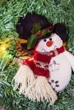 Weihnachtsdekoration mit Schneemann Lizenzfreies Stockbild