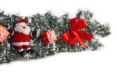 Weihnachtsdekoration mit Weihnachtsmann Stockbilder