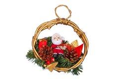 Weihnachtsdekoration mit Weihnachtsmann Stockfotos