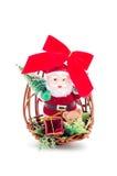 Weihnachtsdekoration mit Weihnachtsmann Lizenzfreies Stockbild