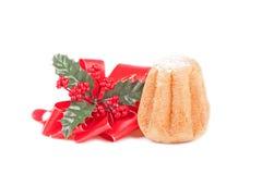 Weihnachtsdekoration - Panettone Lizenzfreies Stockbild