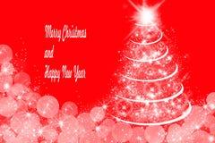 Weihnachtsdekoration, -ROT und -WEISS Stock Abbildung