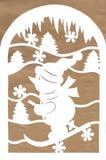 Weihnachtsdekoration Schneemann vom Weißbuch Lizenzfreie Stockbilder