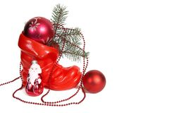 Weihnachtsdekoration und -sankt. Stockfotografie