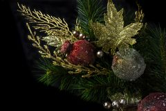 Weihnachtsdekoration und -verzierungen lizenzfreies stockfoto