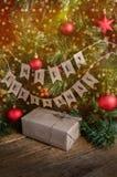 Weihnachtsdekoration und Weihnachtsgeschenk Stockfoto