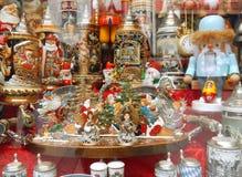 Weihnachtsdekoration vitrine Lizenzfreie Stockfotografie