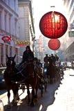 Weihnachtsdekoration in Wien Stockfoto