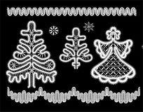 Weihnachtsdekorationen lizenzfreie abbildung