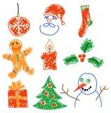 Weihnachtsdekorationen stock abbildung