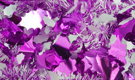 Weihnachtsdekorationen auf Blau Lizenzfreies Stockfoto