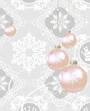 Weihnachtsdekorationen auf einem grauen Hintergrund lizenzfreie abbildung