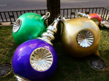 Weihnachtsdekorationen, Chicago, USA Stockfotografie