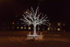 Weihnachtsdekorationen in den Straßen von Bloemfontein Lizenzfreies Stockfoto