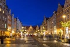 Weihnachtsdekorationen in der alten Stadt von Gdansk, Polen Stockbild