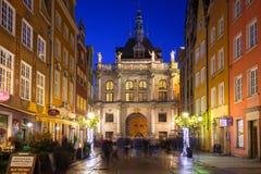 Weihnachtsdekorationen in der alten Stadt von Gdansk, Polen Lizenzfreie Stockfotografie