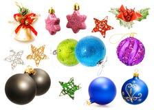 Weihnachtsdekorationen eingestellt Stockfotos