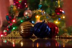 Weihnachtsdekorationen für das neue Jahr Stockfotos