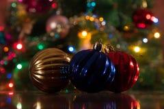 Weihnachtsdekorationen für das neue Jahr Lizenzfreies Stockfoto
