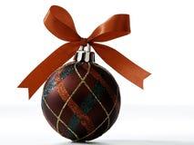 Weihnachtsdekorationen getrennt auf weißem Hintergrund lizenzfreie stockfotos